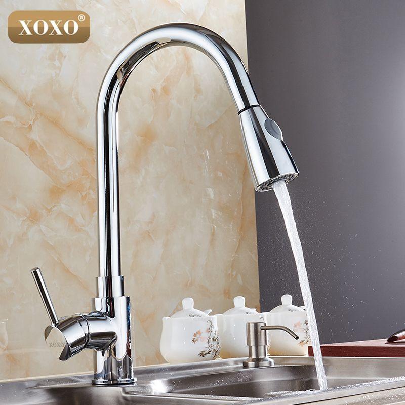 Xoxo New Design 360 Rotating Faucet Chrome Silver Swivel Kitchen Sink Mixer Tap Kitchen Faucet 83011 Sink Mixer Taps Kitchen Faucet Sink