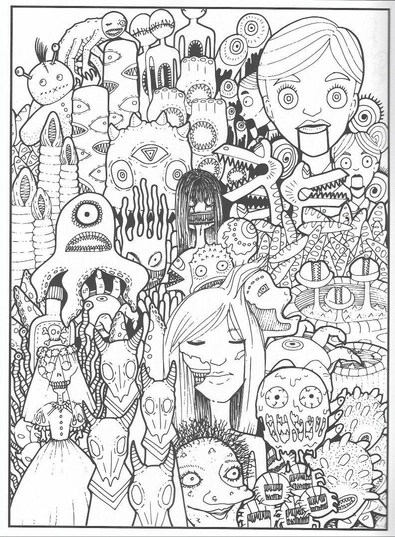 Badass Coloring Pages : badass, coloring, pages, Angie, Burtt, Badass, Coloring, Pages, Doodle, Drawing,, Pages,, Drawings