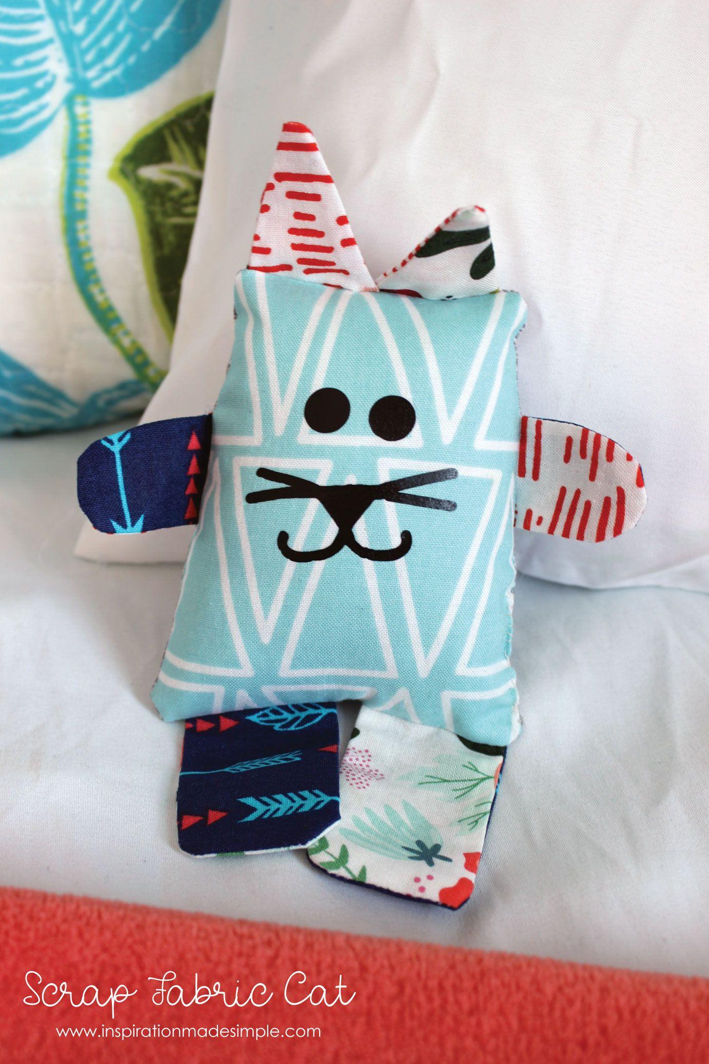 DIY Scrap Fabric Cat - Inspiration Made Simple #scrapfabric