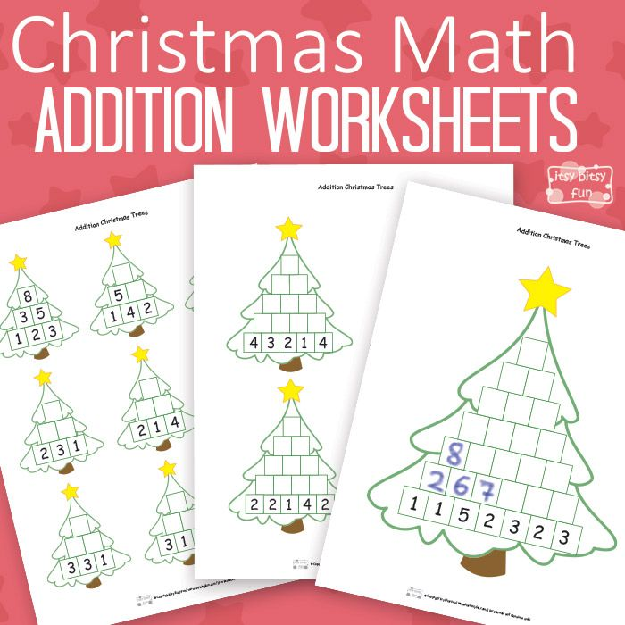 Christmas Math Worksheets Addition Tree | Schule ...