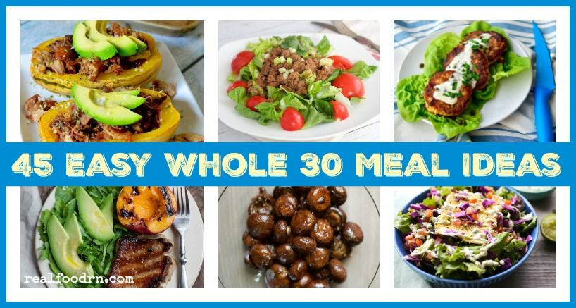 45 Easy Whole30 Meal Ideas. Doing a Whole30 does not have to be hard, and the food does not have to be bland! Here are 45 recipes that are easy and delicious.