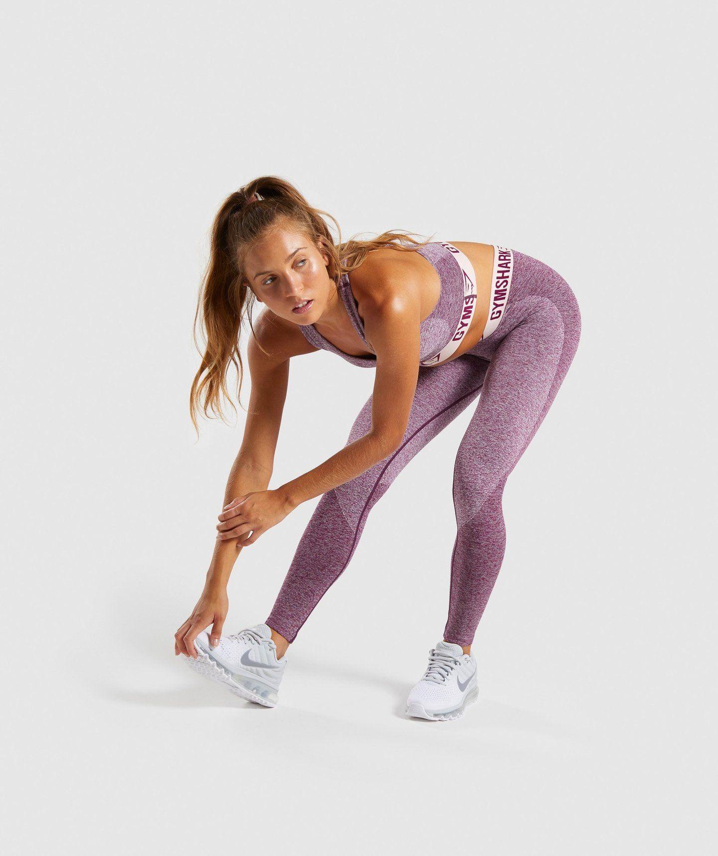 b10538466c5c6 Gymshark Flex Leggings - Dark Ruby Marl/Blush Nude | gym | Flex ...