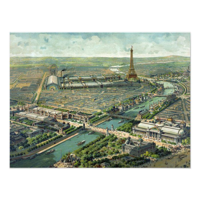 Panoramic View of the World Expo 1900, Paris France.