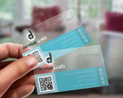 Free Flat Transparent Plastic Business Card Calgary Marketing