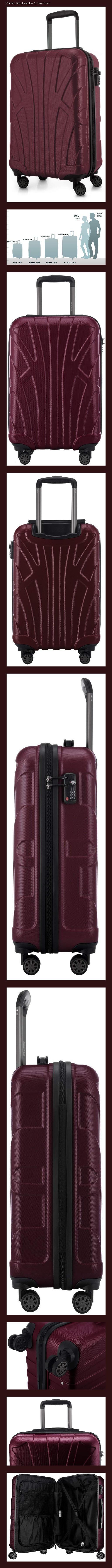 Suitline 3er Koffer-Set Trolley-Set Rollkoffer Hartschalen-Koffer Reisekoffer Aquagr/ün TSA, 55 cm, 66 cm, 76 cm 100/% ABS Matt