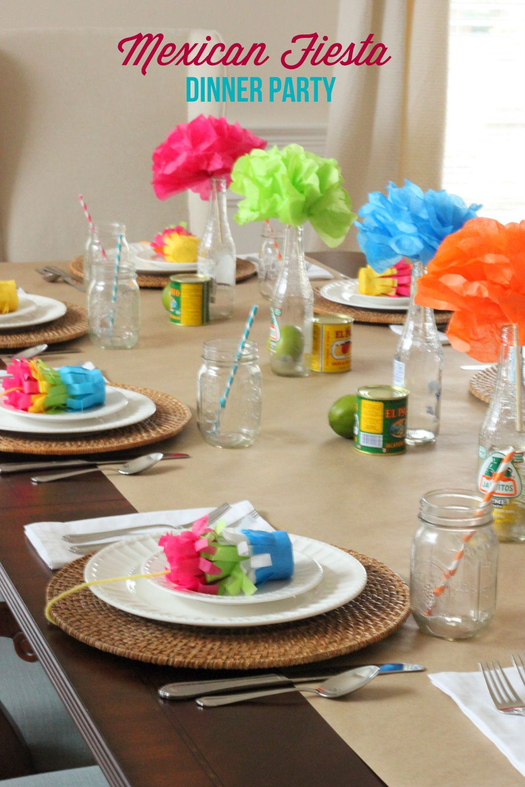 Dinner table with mexican food - Dinner Party Ideas Mexican Fiesta Party Mirabelle Creations