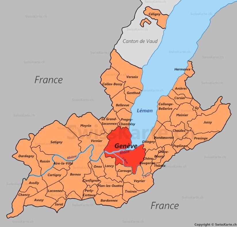 Carte du canton de Genve CH Pinterest