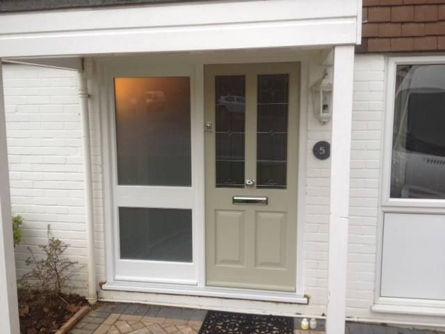 Kingston timber door and side panel. Door sash in French Grey and side panel in & Kingston timber door and side panel. Door sash in French Grey and ... pezcame.com