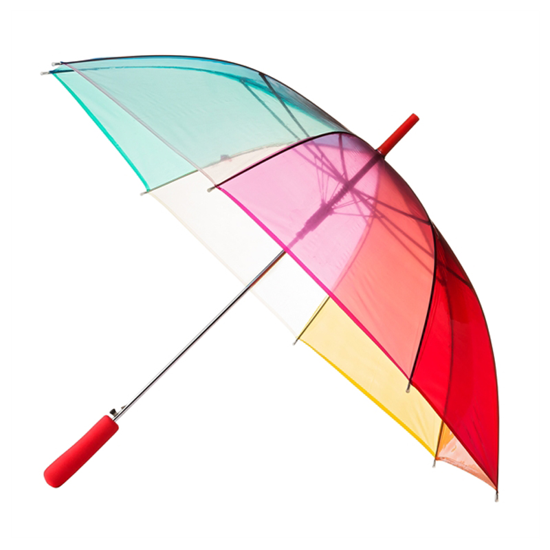 Clear Rainbow Umbrella - Bright and cheerful #clearumbrella