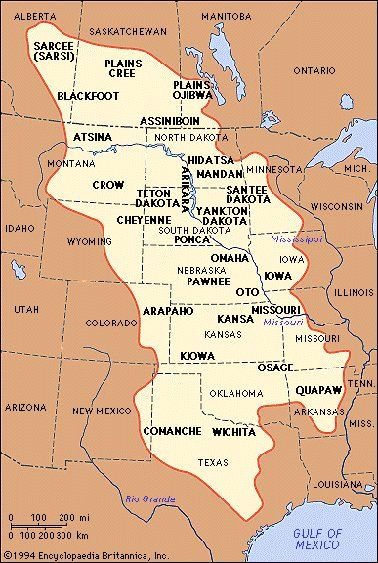Plains Indians First Peoples Pinterest Indian Tribes Native - Map of great plains in canada and the us