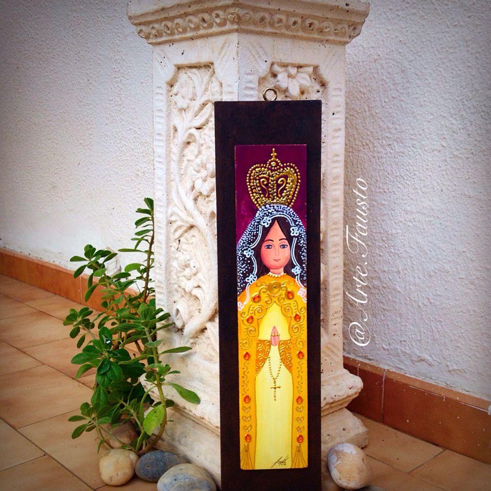 Cuadro: Virgen del Valle, pintura al frío sobre madera (chapa sobre ...