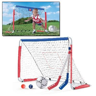 Get A Head Start On Baseball Hockey And Soccer Skills With This 3 In 1 Soccer Goal And Pitch Back With A S Outdoor Learning Soccer Skills Childhood Education