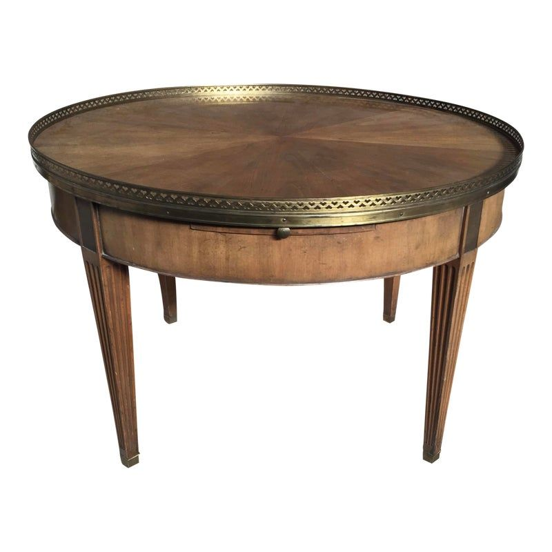 Baker Furniture Coffee Table Round Neoclassical Baker Furniture