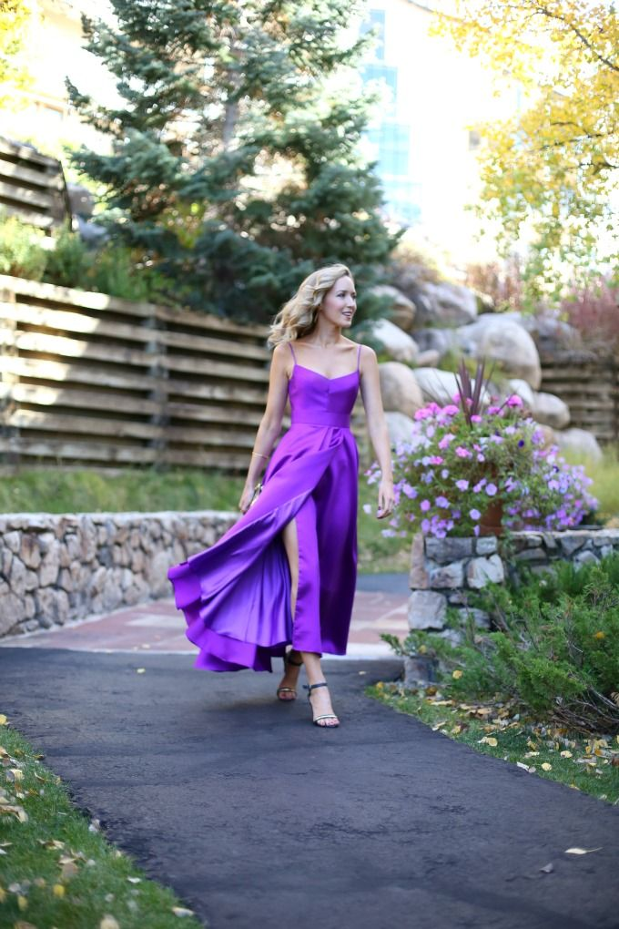 Fall Mountain Wedding Guest: Purple Dress | MemorandumMEMORANDUM ...