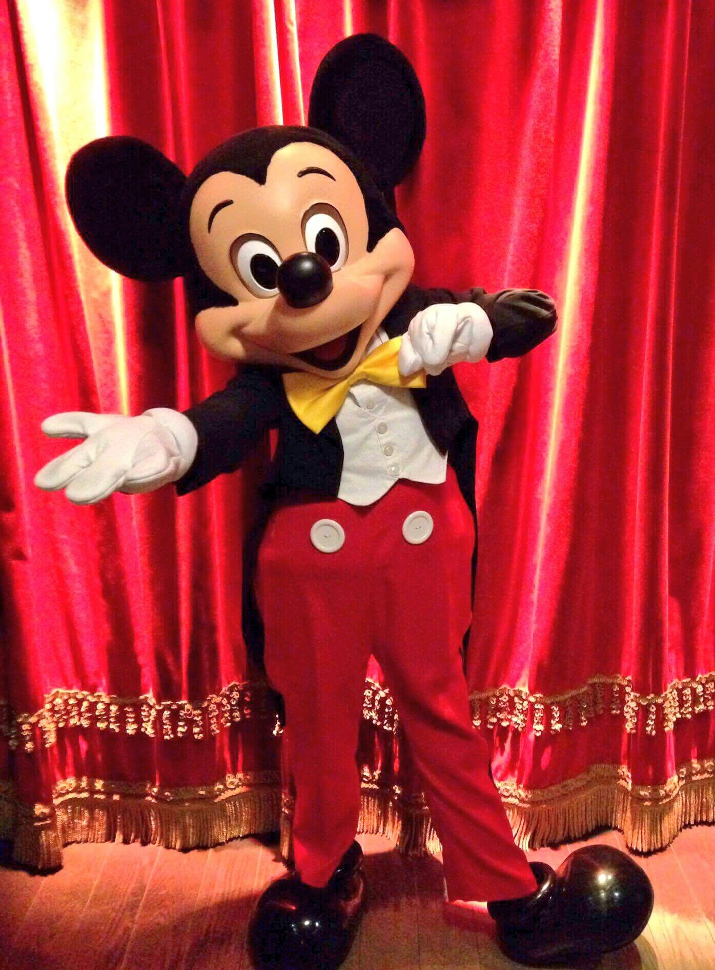 Mickey backstage in the town square theater mickey