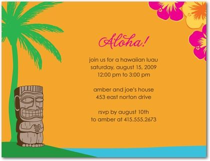 10 images about Hawaii themed party dream honeymoonvacation on – Hawaiian Theme Party Invitations