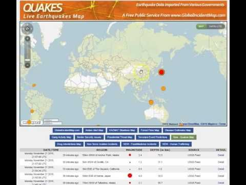 World earthquakes live