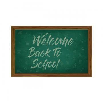School Back Welcome Vector Background Design Blackboard