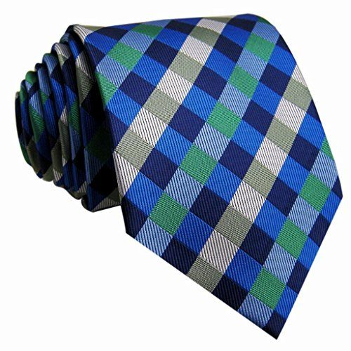 Shlax&Wing Ties Necktie Checkered Blue Green Handmade Wedding Brand New Long  http://www.yourneckties.com/shlaxwing-ties-necktie-checkered-blue-green-handmade-wedding-brand-new-long/