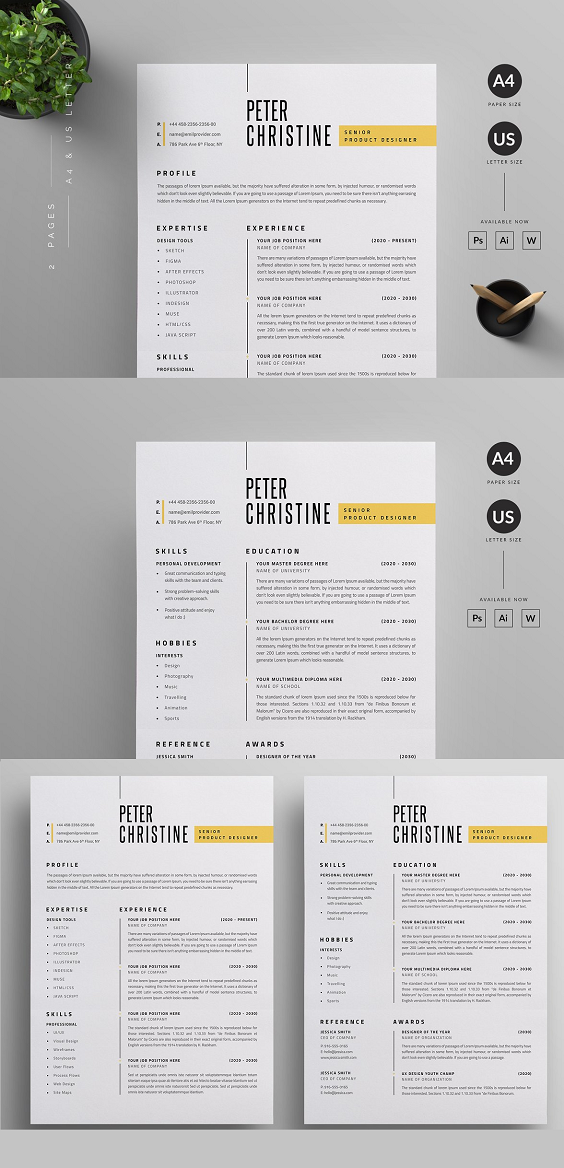 100+ Word Resume & Cover Letter Templates Download