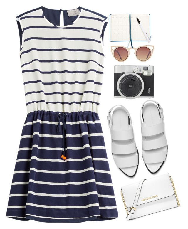 """stripes"" by andonwednesdayswewearpink ❤ liked on Polyvore"