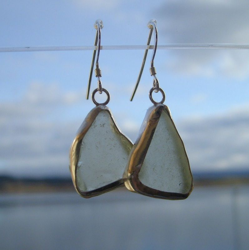 Loch Fyne Frosted Sea Glass Drops available in 4 colours-Fyne Silver