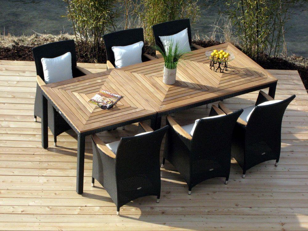 Atleve TEAK X Holztisch Gartentisch Garten Tisch Teaktisch 160 x ...