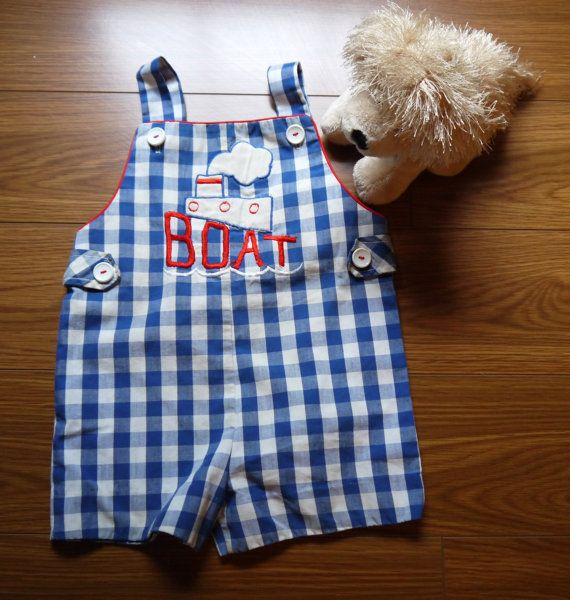 Nautical Style Baby Boy romper Shorts Outfit 6-12 months ...