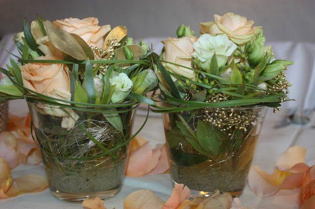 Hochzeits Tischdekoration Apricotfarbene Rosen Lysianthos Graser