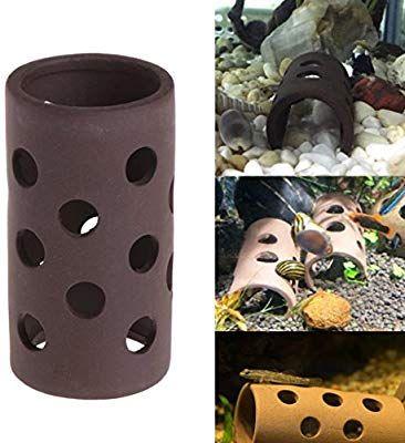 Amazon Com Wodwad Aquarium Tank Tube Breeding Hiding Cave Shelter With Holes For Fish Shrimp Plant Pet Supplies Aquarium Accessories Pet Supplies Shelter