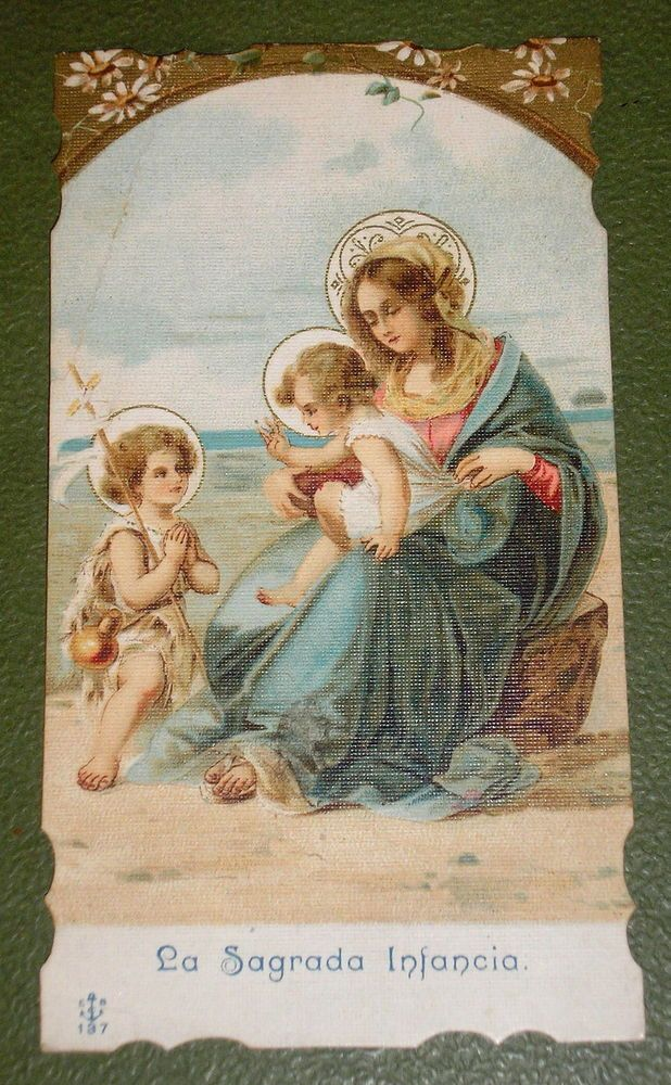 THE SACRED INFANCY NICE OLD DIE CUT HOLY CARD  #HolyCards