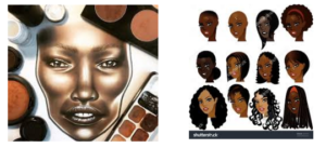 """Look up and perform a google search for """"black women face charts"""". You will see these results Out of the first 100 search results I found 5 faces that reflected the face of a minority women. Here is the Face Chart canvasses of the face:   Support A Face Chart App with Canvasses for …"""