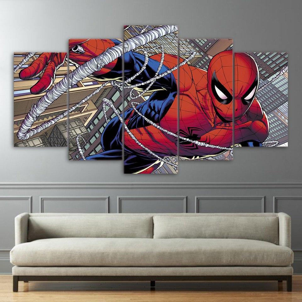 Spider Man Canvas Set Spiderman Canvas Movie Wall Art Big Canvas Art