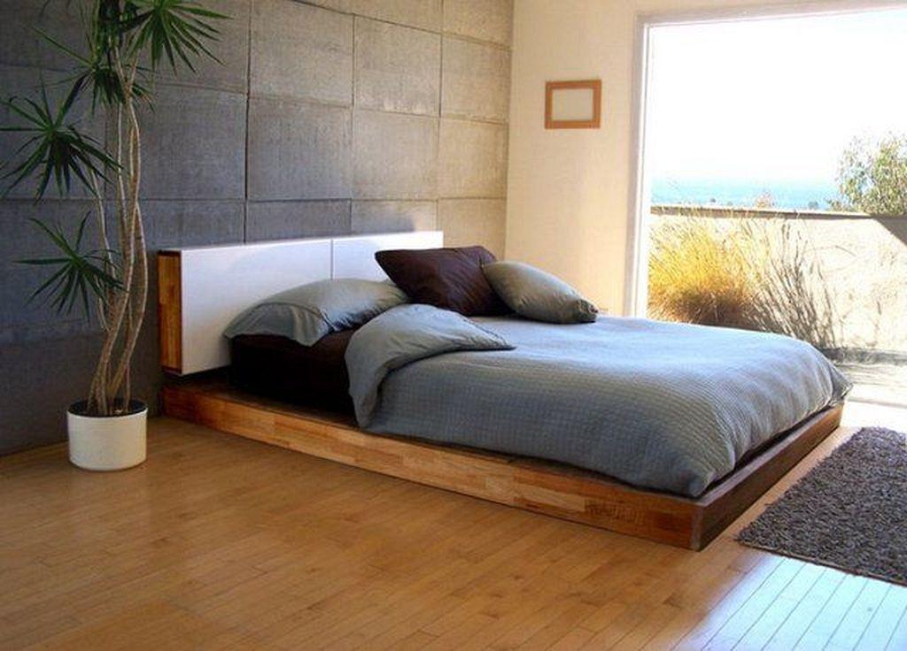 30 Wooden Low Bed Frame Designs For King Size Platform Bed