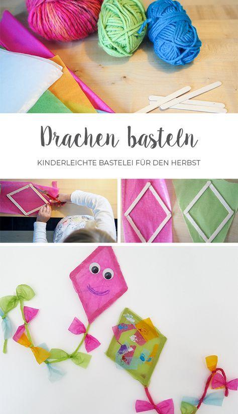 Drachen basteln // Fensterdeko für den Herbst #craftprojects
