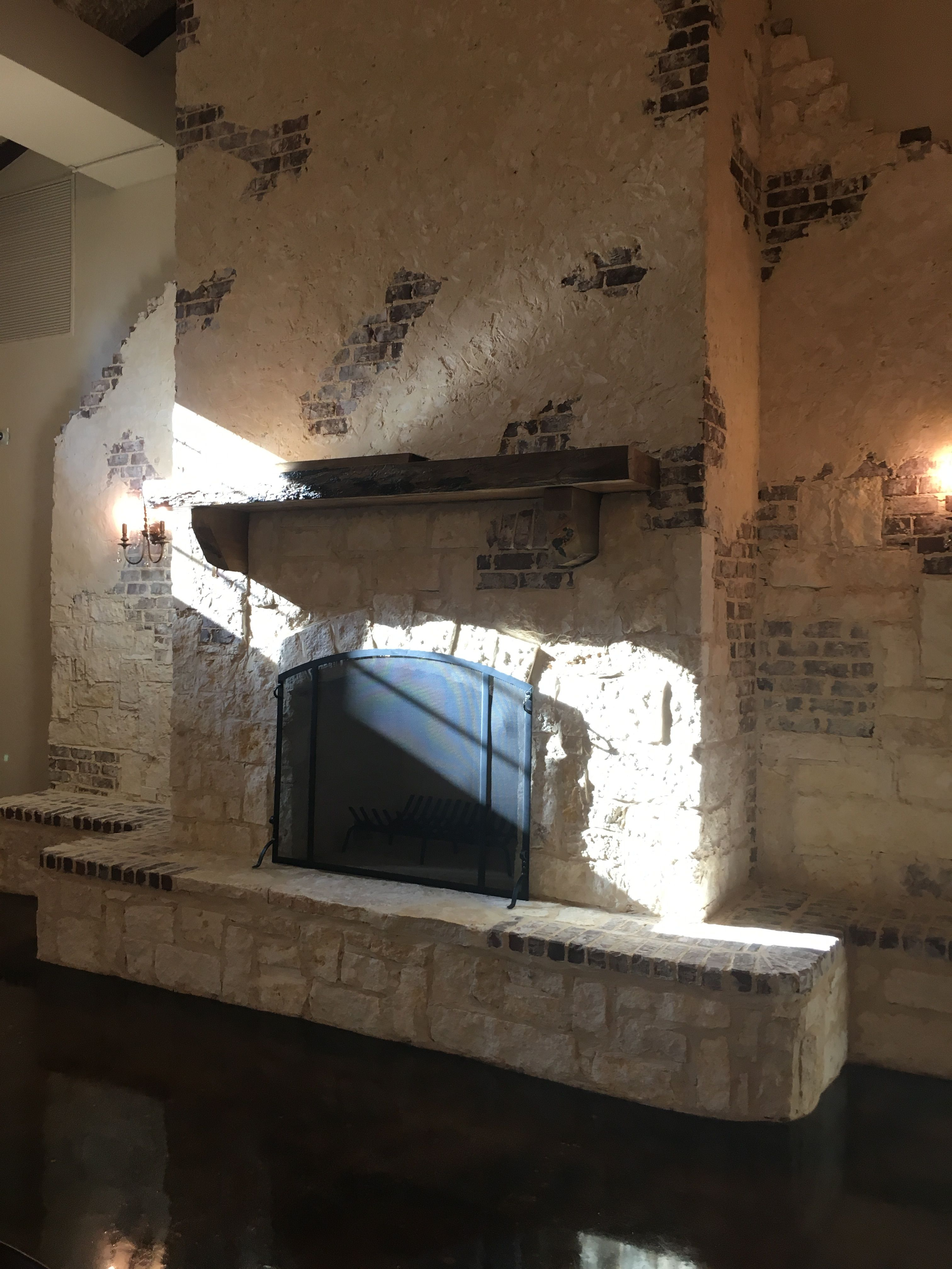 outdoor wedding venues dfw texas%0A Fireplace in the Reception space at Hidden Waters event venue in  Waxahachie  TX