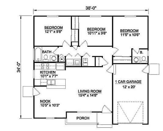planos de casas 8 x 11