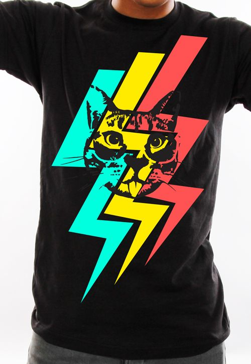 Cheeky Hipster Cat custom t-shirt design from petrifiedpanda ...