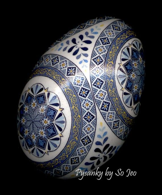 Made To Order: Cerulean Blues Pysanka Pysanky  EBSQ Juried Plus on Etsy, $250.00