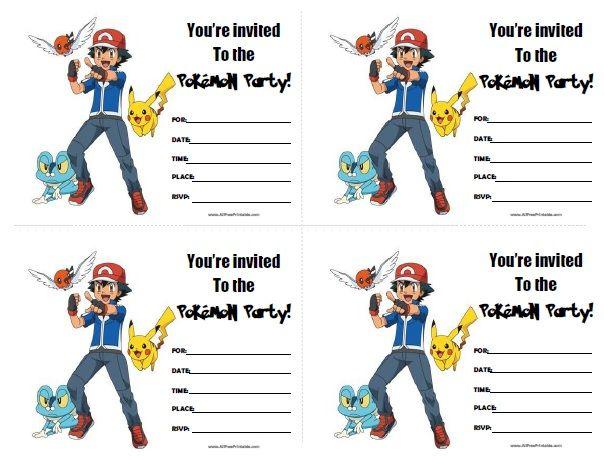 Free Printable Pokemon Birthday Invitations Pokemon Invitations Pokemon Birthday Party Birthday Party Invitations Free