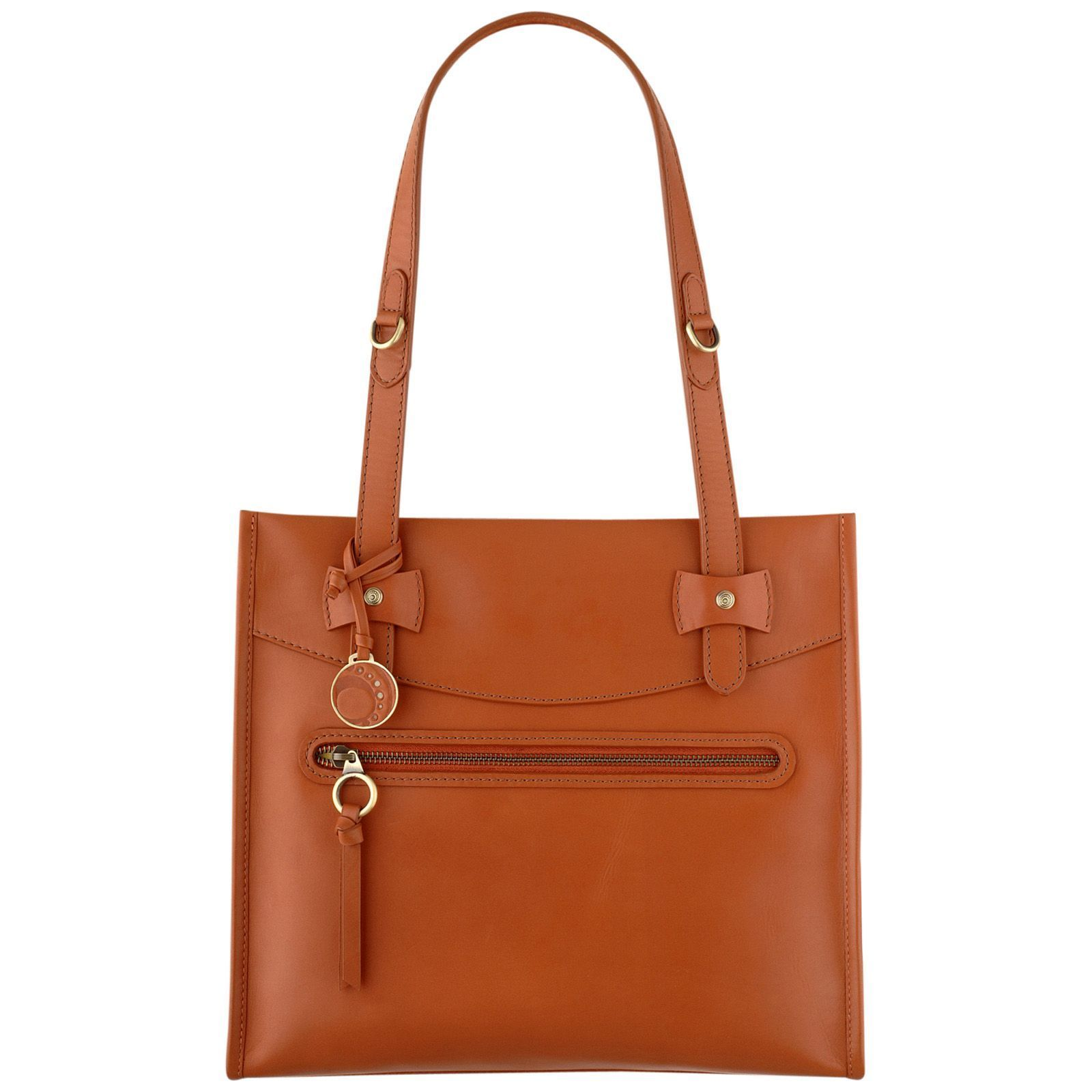 Ochre Blue Orange Medium Cleo Tote Bag