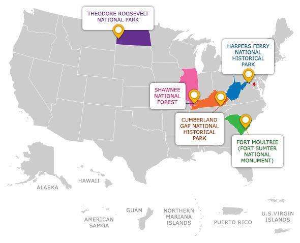 America The Beautiful Quarters Road Trip United States Map - Map us territories guam puerto rico