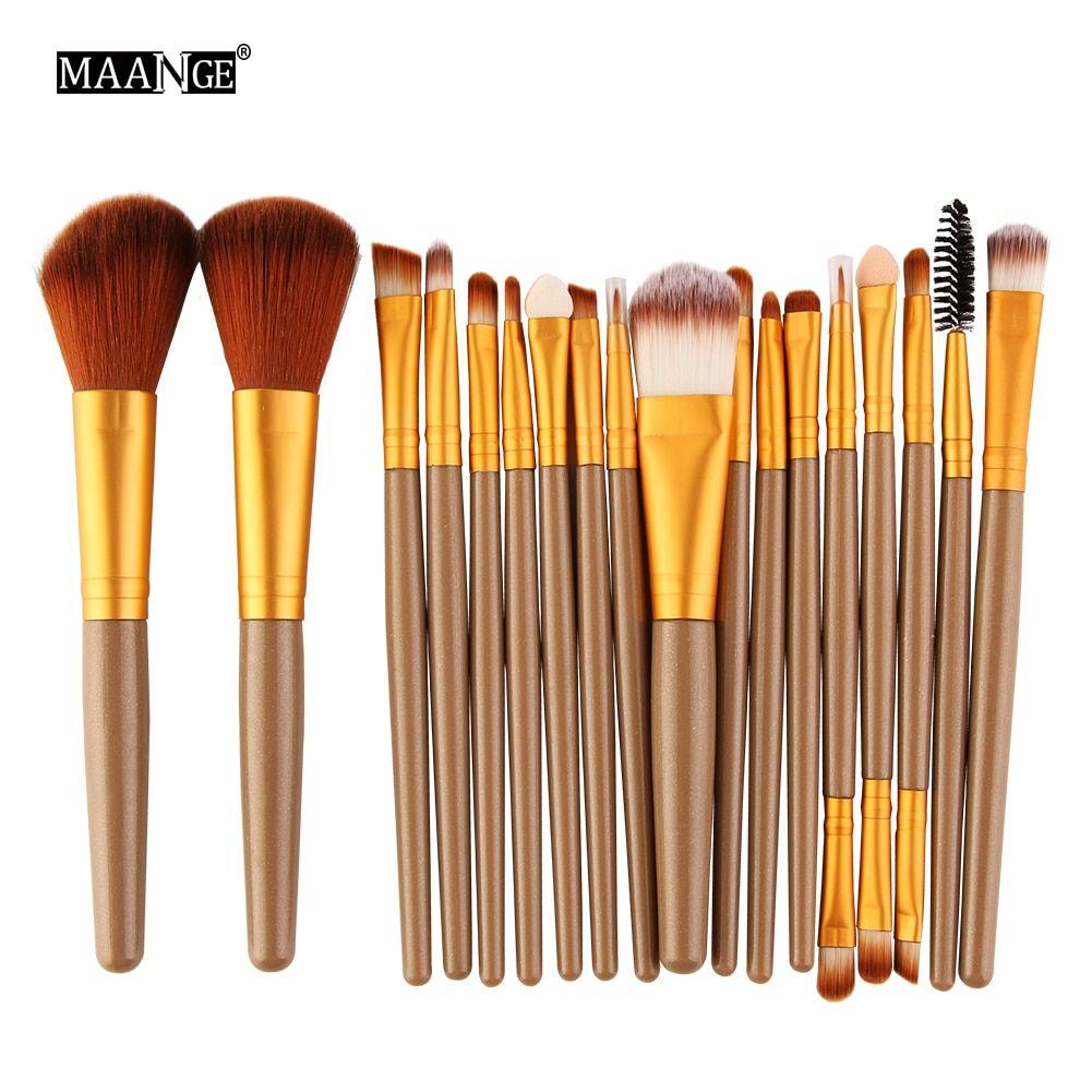 MAANGE 6/15/18 Teile Make-Up Pinsel Werkzeug Set Kosmetische Pulver Lidschatten Foundation Blush Blending Schönheit Machen up Pinsel Maquiagem – jj-5444