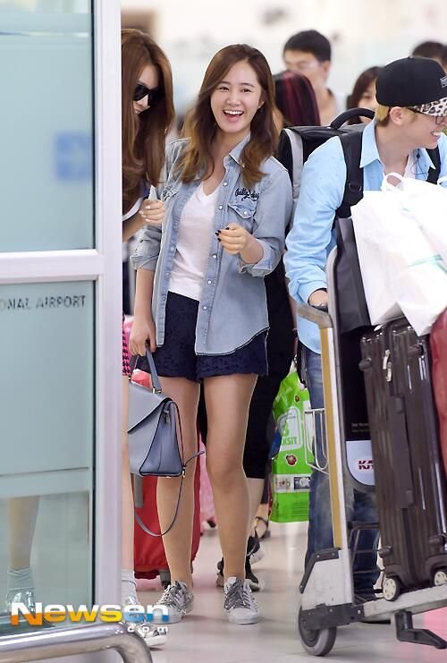 snsd yuri airport fashion july 2014 airport fashion