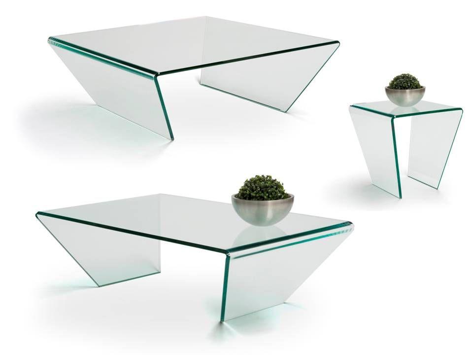 Moderne Glazen Salontafels.Curvo Glazen Salontafels Van Bree S New World Rechthoekige