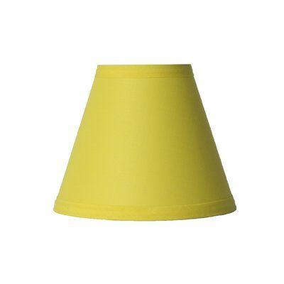 Highland Dunes 6 Cotton Empire Candelabra Shade Color Yellow