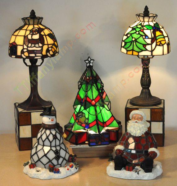 CHRISTMAS-TIFFANY-ACCENT-LAMPS--Set | zee's favorites | Pinterest ...