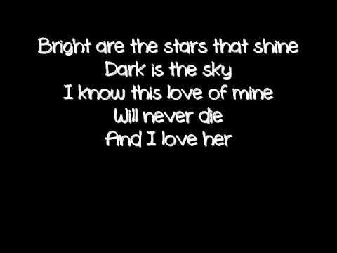 The Beatles And I Love Her Beatles Lyrics Beatles Wedding Songs