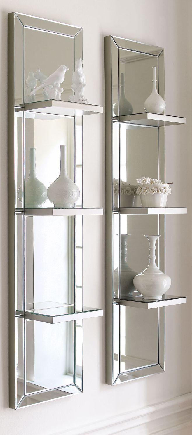 mirrored shelf wall panel mirrored furniture wall on wall shelf id=70074
