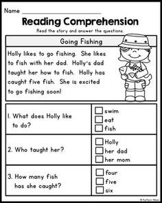 FREE First Grade Reading Comprehension Passages - Set 1   Work ...